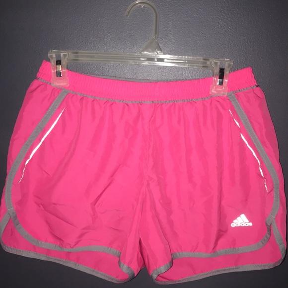 Neon Pink Adidas Track Shorts